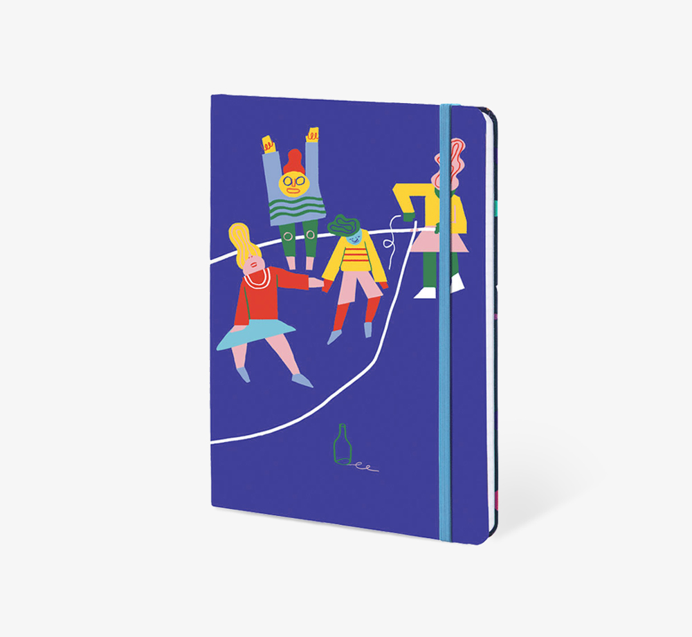 Double Dutch' A5 Notebook by The Editions - Bookblock Shop Stationery