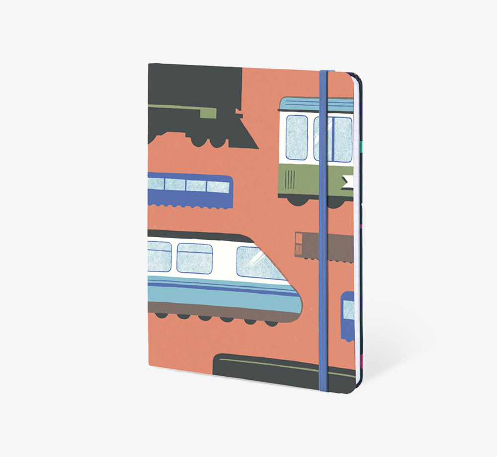 Trains' A5 Notebook by The EditionsStationery| Bookblock