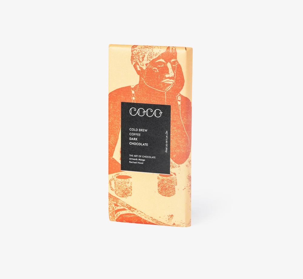 Cold Brew Coffee Dark Chocolate by Coco Chocolatier - Bookblock Shop Eat & Drink