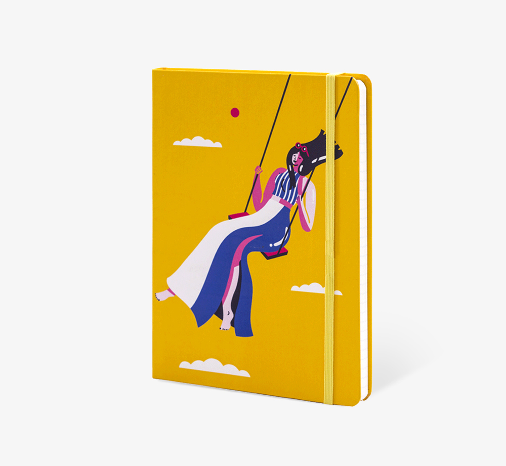 Swinging Girl' A5 Notebook by The Editions - Bookblock Shop Stationery