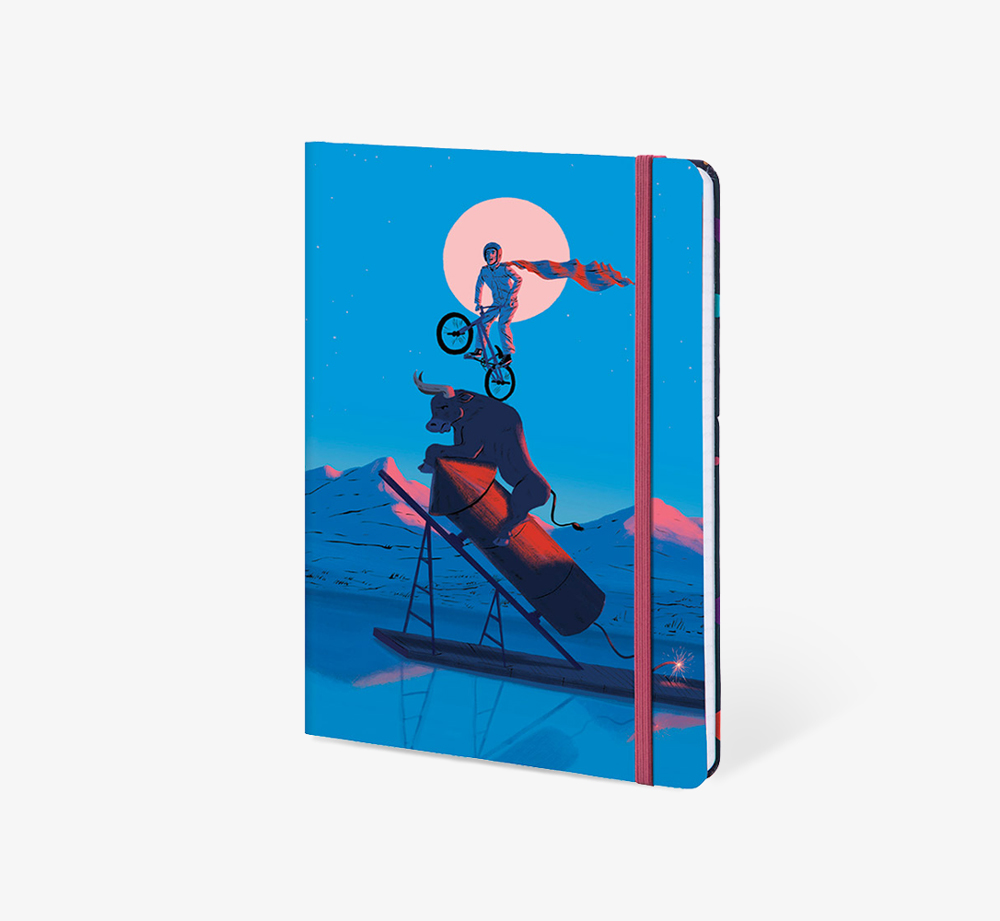 Moonlit Rider' A5 Notebook by The Editions - Bookblock Shop Stationery