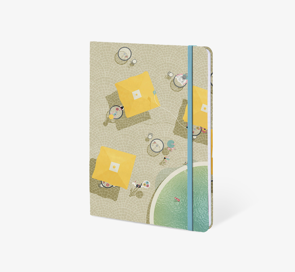 Al Fresco' A5 Notebook by The Editions - Bookblock Shop Stationery