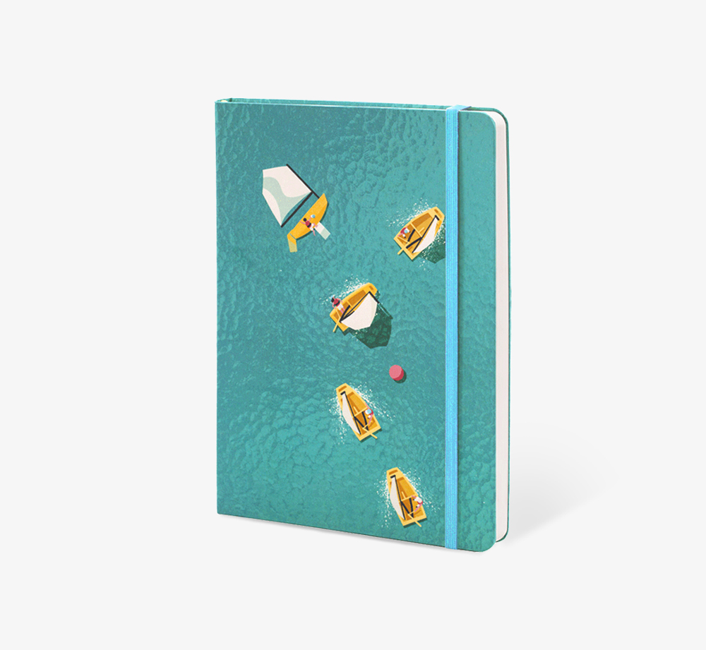 Boats' A5 Notebook by The Editions - Bookblock Shop Stationery