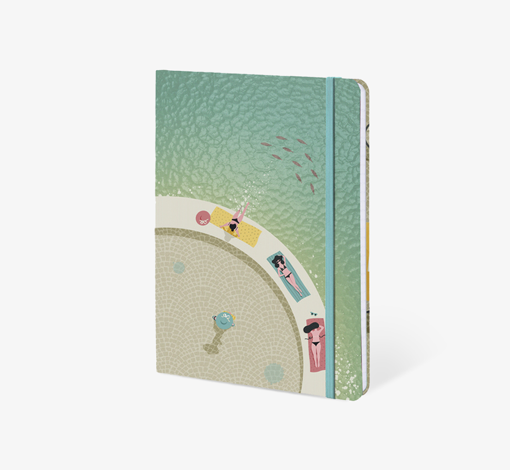 Sunbathers' A5 Notebook by The Editions - Bookblock Shop Stationery