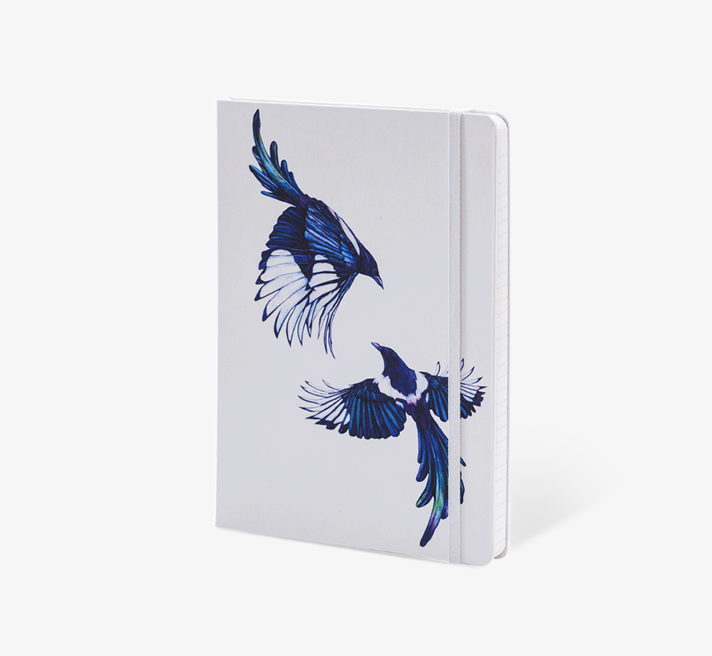 Magpies' A5 Notebook by The Editions - Bookblock Shop Stationery