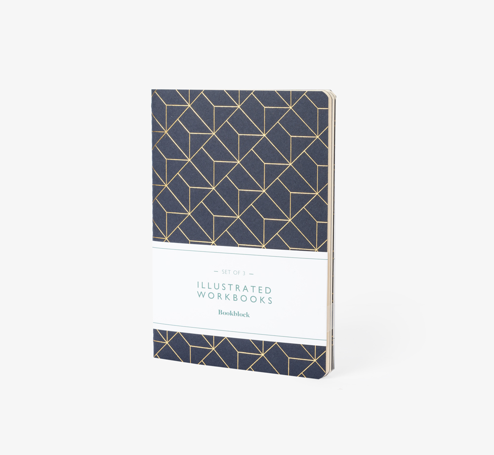 Graphic Foiled Workbooks Pack of 3 by BookblockStationery| Bookblock