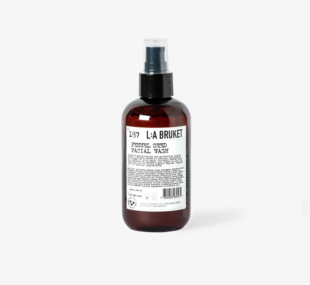 No 187 Fennel Seed Facial Wash by L:A Bruket - Bookblock Shop Pamper