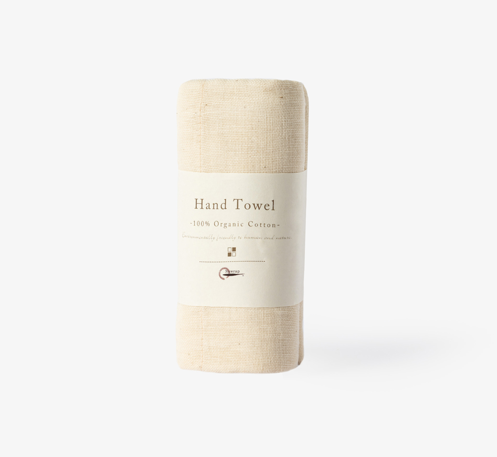 Ivory Organic Cotton Hand Towel by NawrapHome| Bookblock