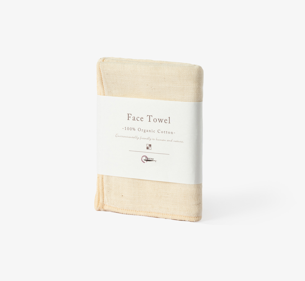 Ivory Organic Cotton Face Towel by NawrapHome| Bookblock