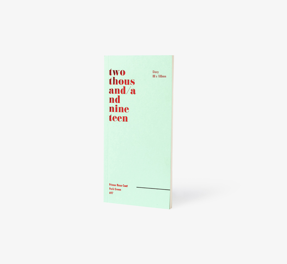 2019 Graphic Slim Line Diary Green by Bookblock - Bookblock Shop Stationery