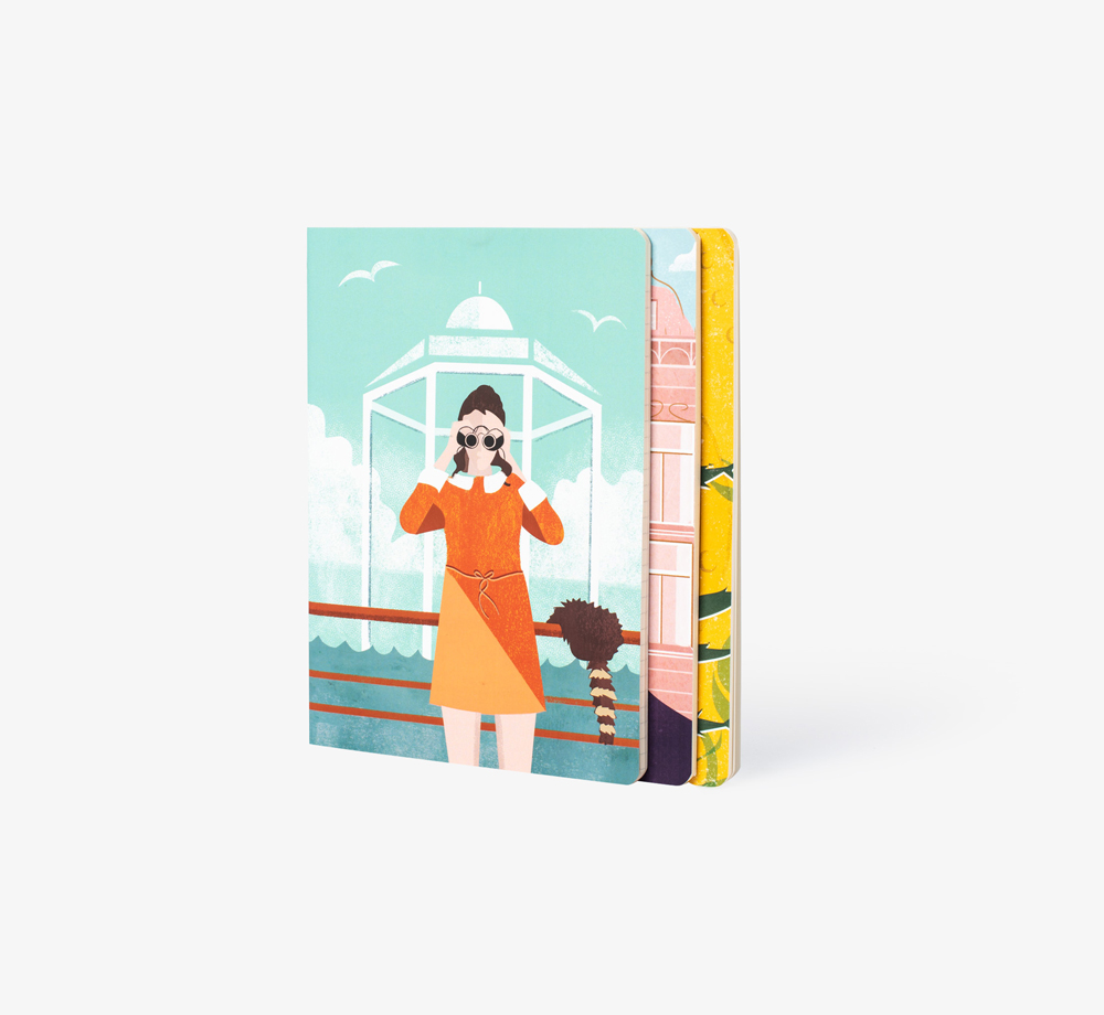 Wes Anderson Pack of 3 Workbooks by BookblockStationery| Bookblock