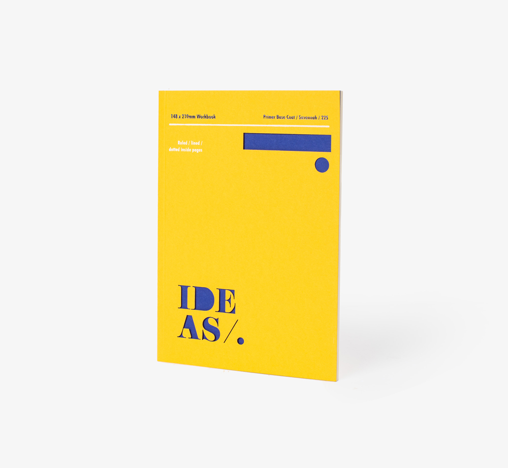Graphic A5 Notebook Yellow by BookblockCorporate Gifts  Bookblock