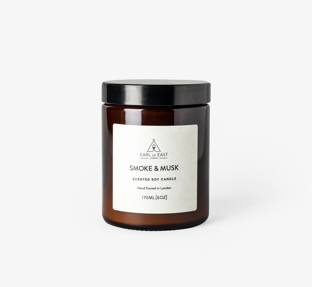 Smoke and Musk 170ml Candle by Earl of EastHome| Bookblock
