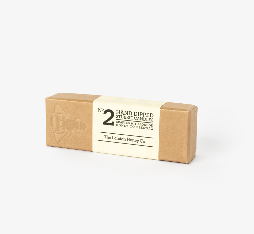 No.2 Beeswax Stubbie Candles by London Honey Co. - Bookblock Shop Home