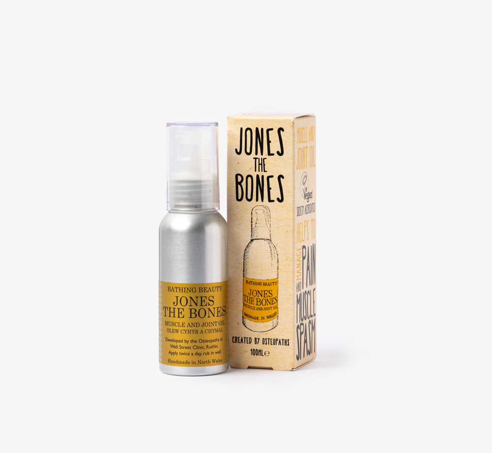 Jones the Bones Muscle and Joint Oil by Bathing Beauty Natural Skincare - Bookblock Shop Pamper