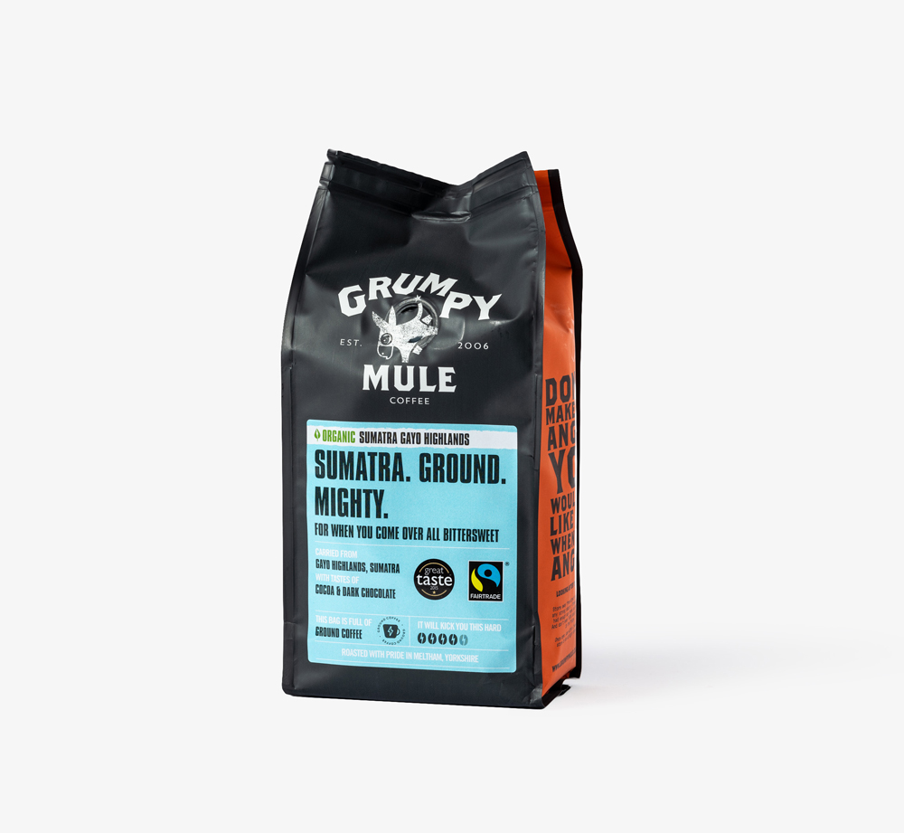 Sumatra Ground Coffee by Grumpy Mule - Bookblock Shop Eat & Drink