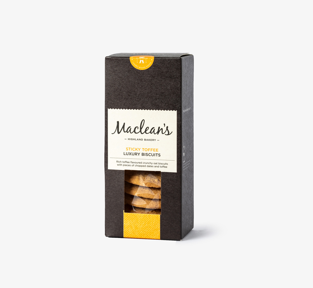 Sticky Toffee Biscuits by Maclean's - Bookblock Shop Eat & Drink