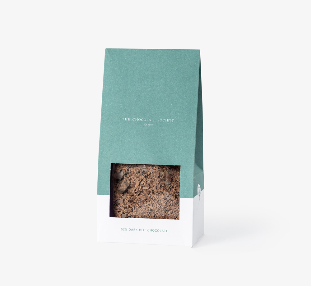 Dark Hot Chocolate Flakes by The Chocolate Society - Bookblock Shop Eat & Drink