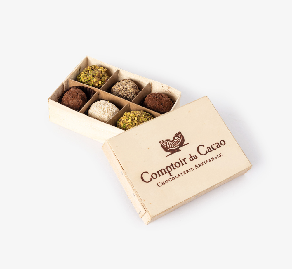 Box of 6 Truffles by Comptoir du Cacao - Bookblock Shop Eat & Drink