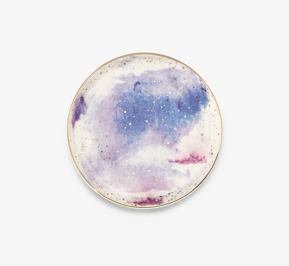 Cosmos Plate Purple by PorlandHome| Bookblock
