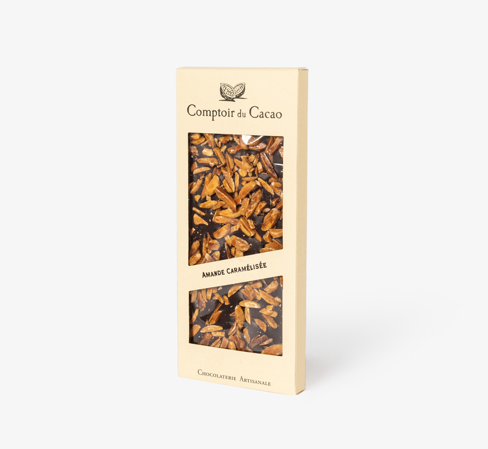 Dark Chocolate with Almonds by Comptoir du Cacao - Bookblock Shop Eat & Drink