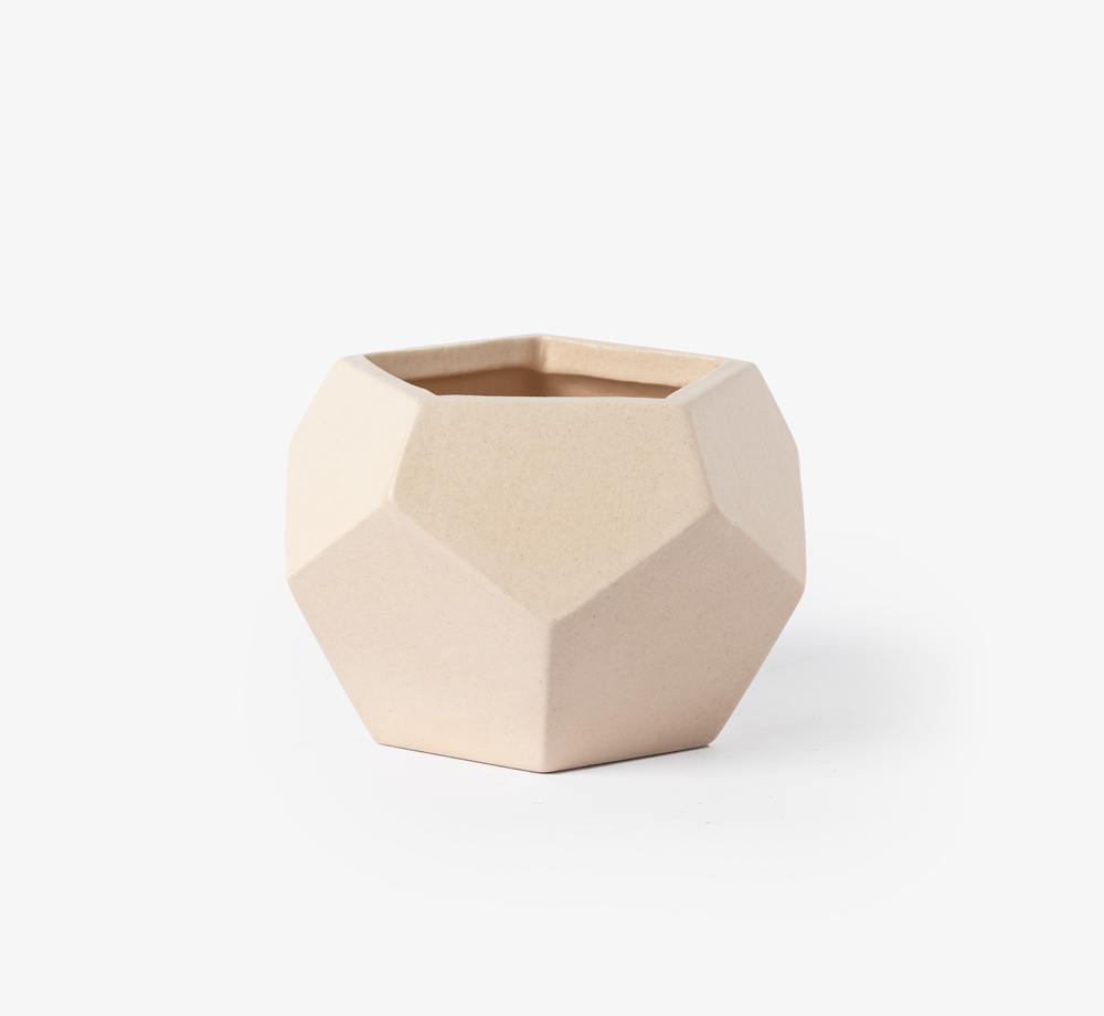Peach Geometric Planter by Bookblock - Bookblock Shop Home