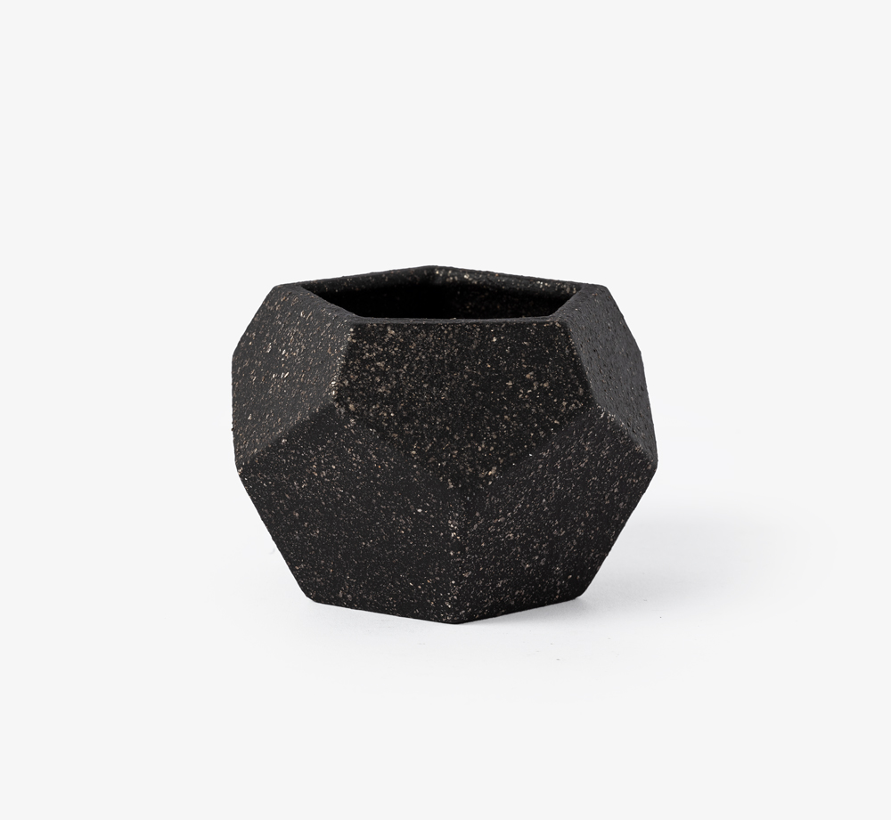 Black Geometric Planter by Bookblock - Bookblock Shop Home