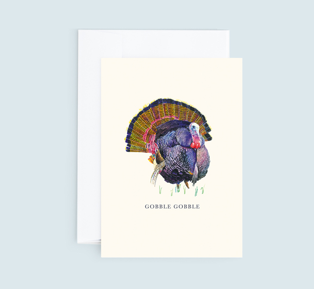 Customisable Christmas greeting card with a Turkey.