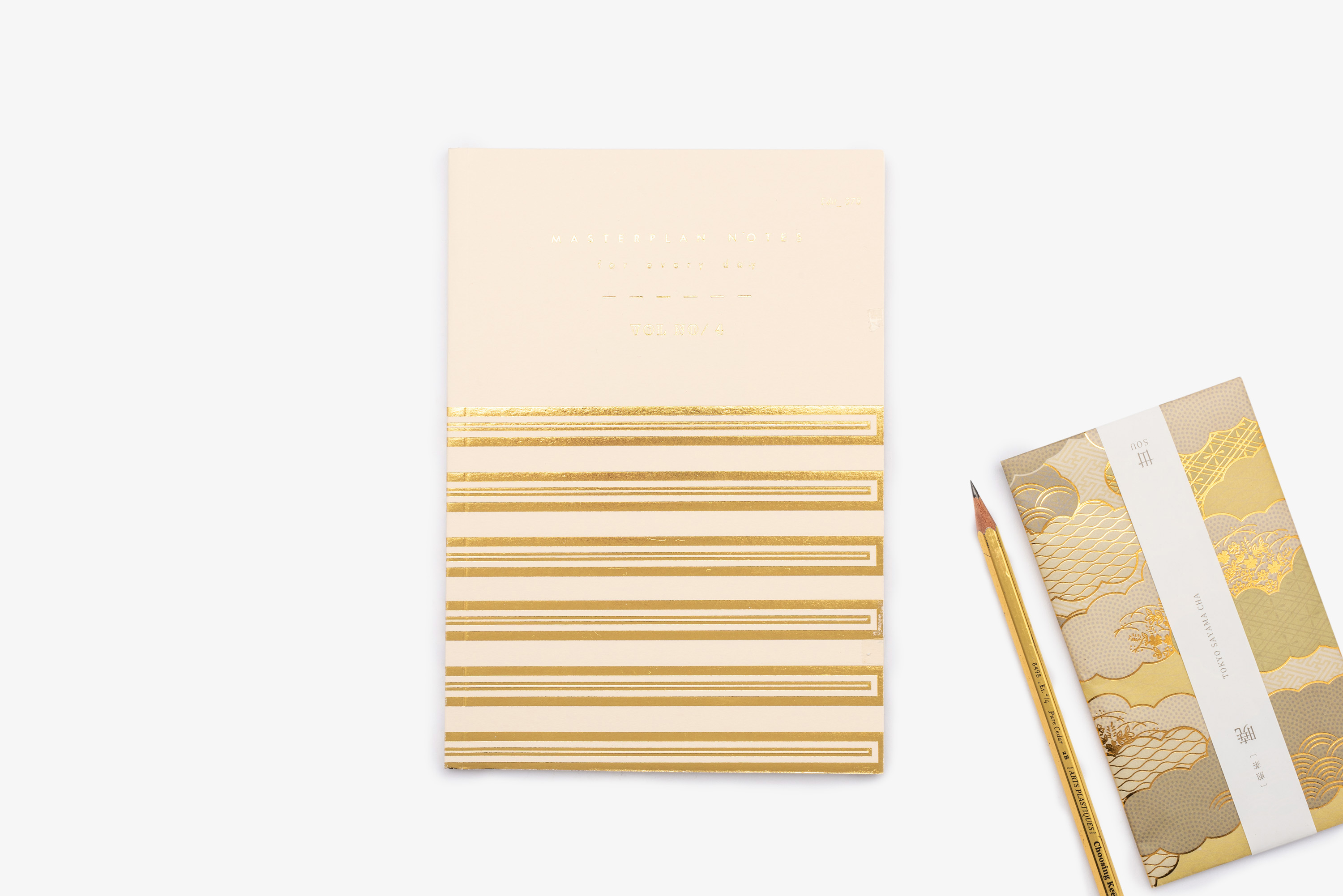 Gold and cream foiled masterplan notes by Bookblock