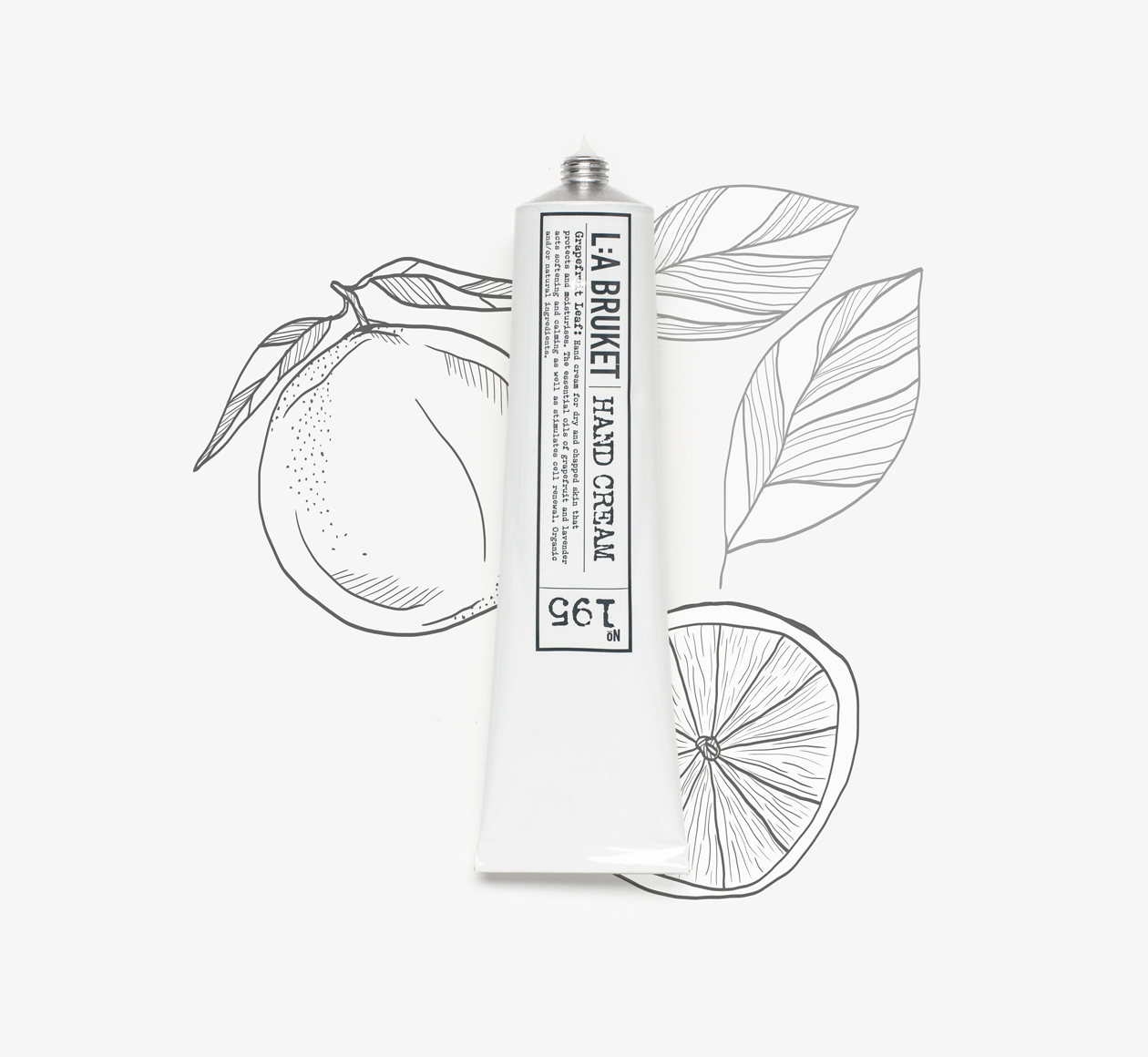 LA: Bruket grapefruit hand cream on Bookblock
