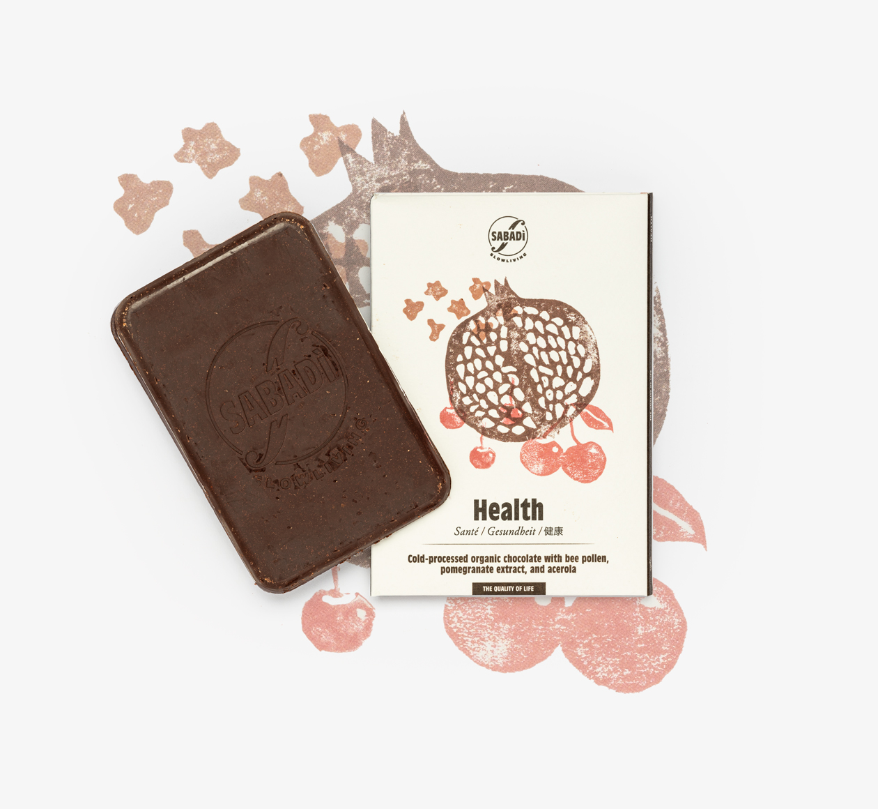 Sabadi health chocolate on Bookblock