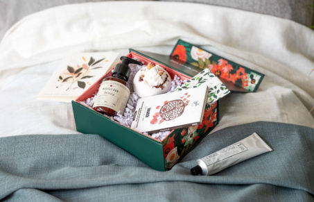 Wellness month gift boxes on Bookblock