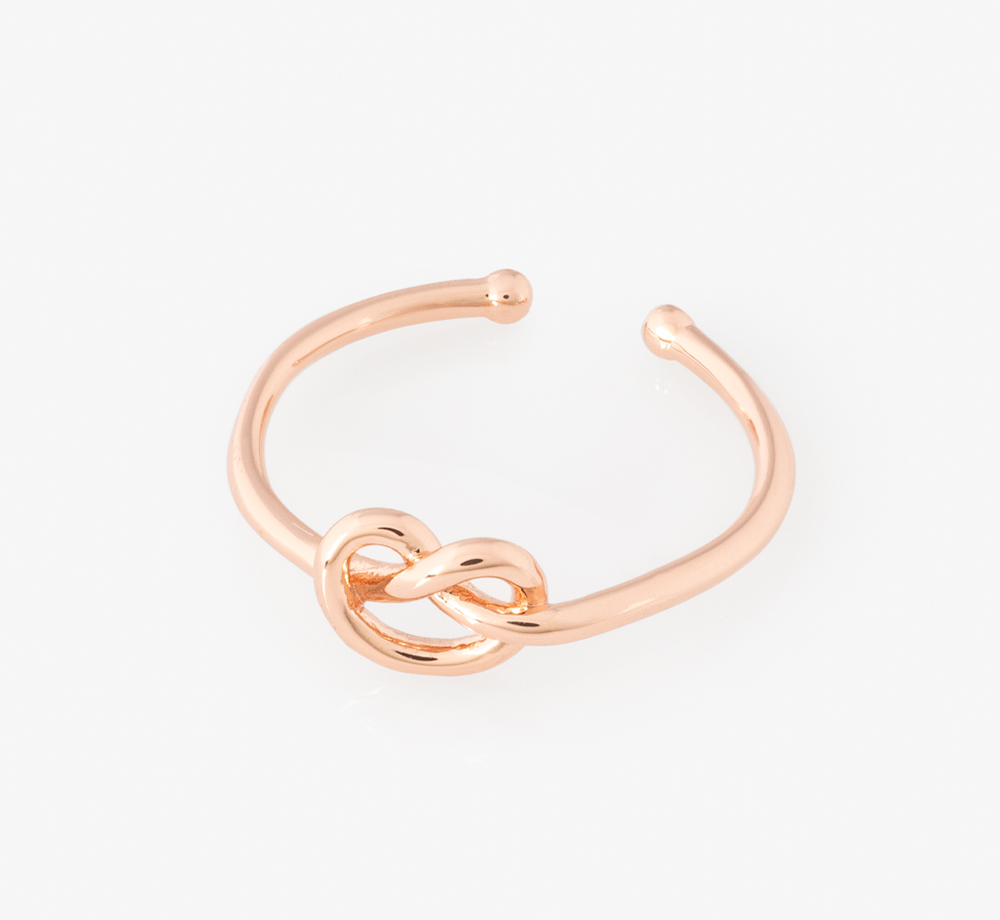 Rose Gold Knot Bridesmaid's Ring by Junk Jewels - Bookblock Shop Wedding