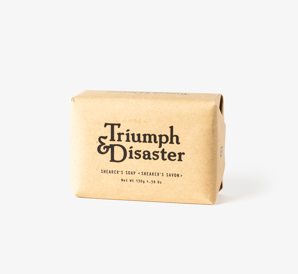 Shearer's Soap 130g by Triumph & Disaster - Bookblock Shop Men's