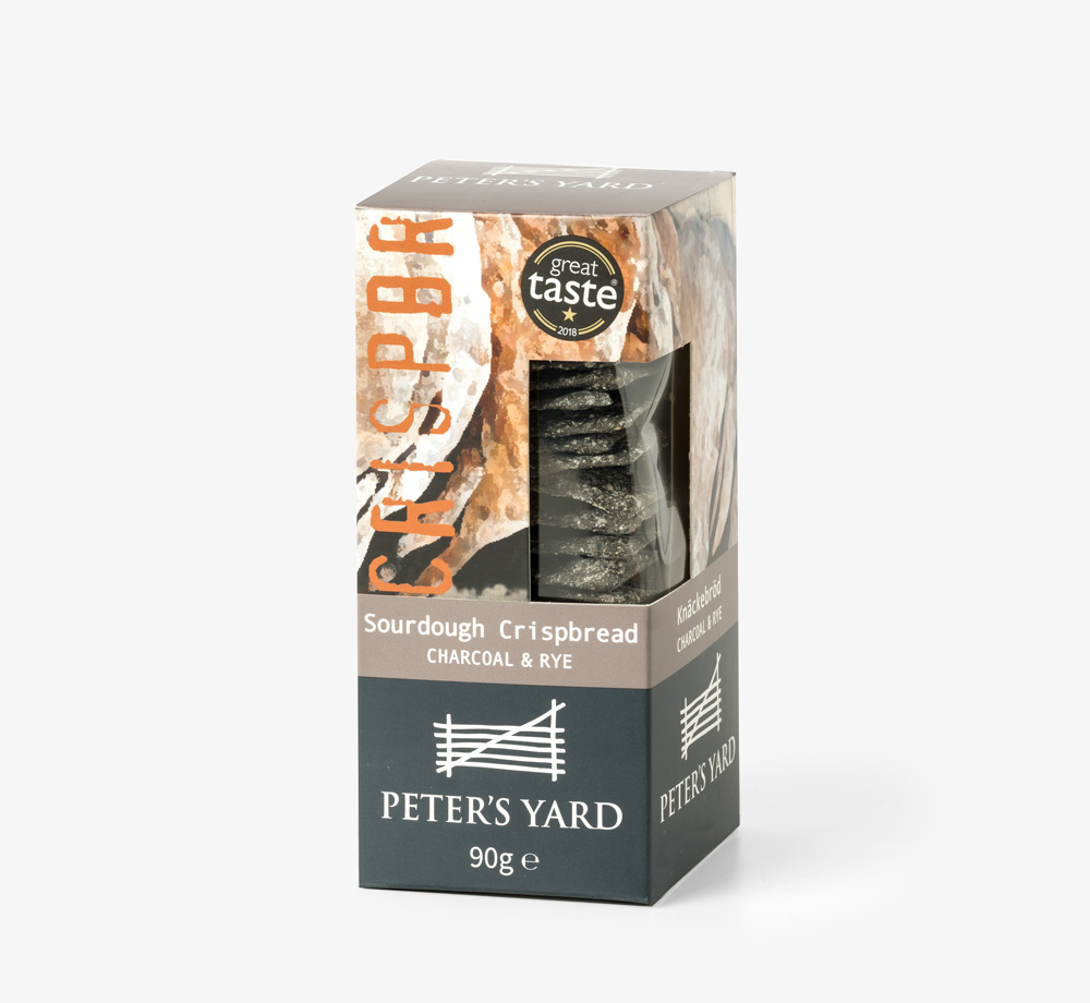 Charcoal & Rye Sourdough Crispbread by Peter's YardEat & Drink| Bookblock
