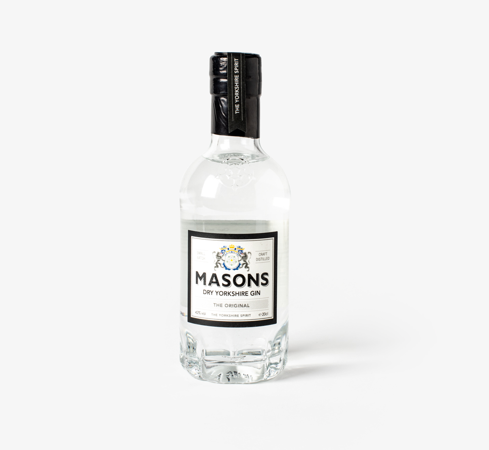 Dry Yorkshire Gin 20cl by Masons - Bookblock Shop Eat & Drink