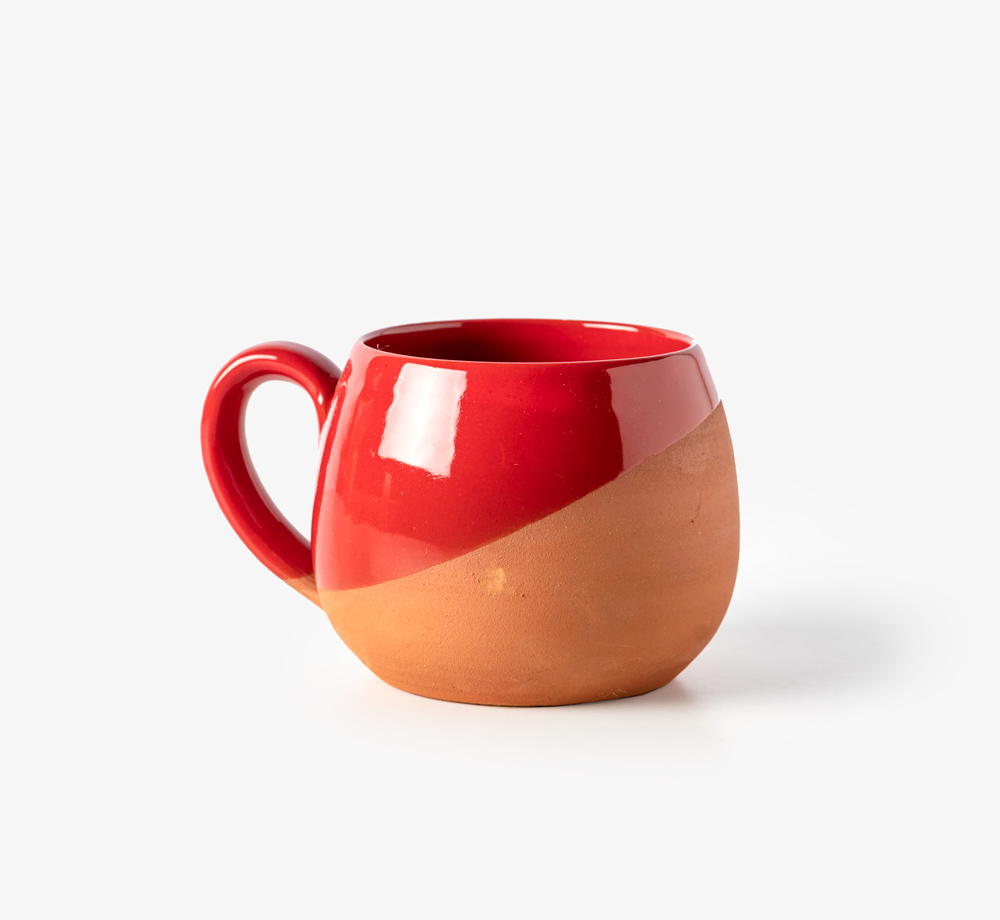 Konya Cup with Cherry Red Glaze by BookblockHome| Bookblock