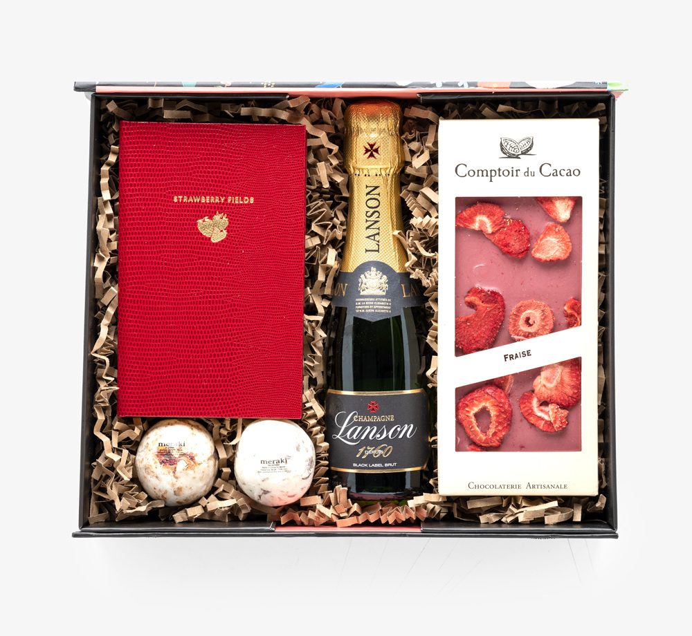 Strawberry Champagne Gift Box by Bookblock - Bookblock Shop Gift Box