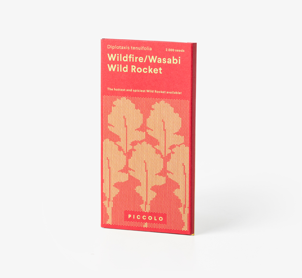 Wildfire / Wasabi Wild Rocket Seeds by Piccolo SeedsLifestyle & Games| Bookblock