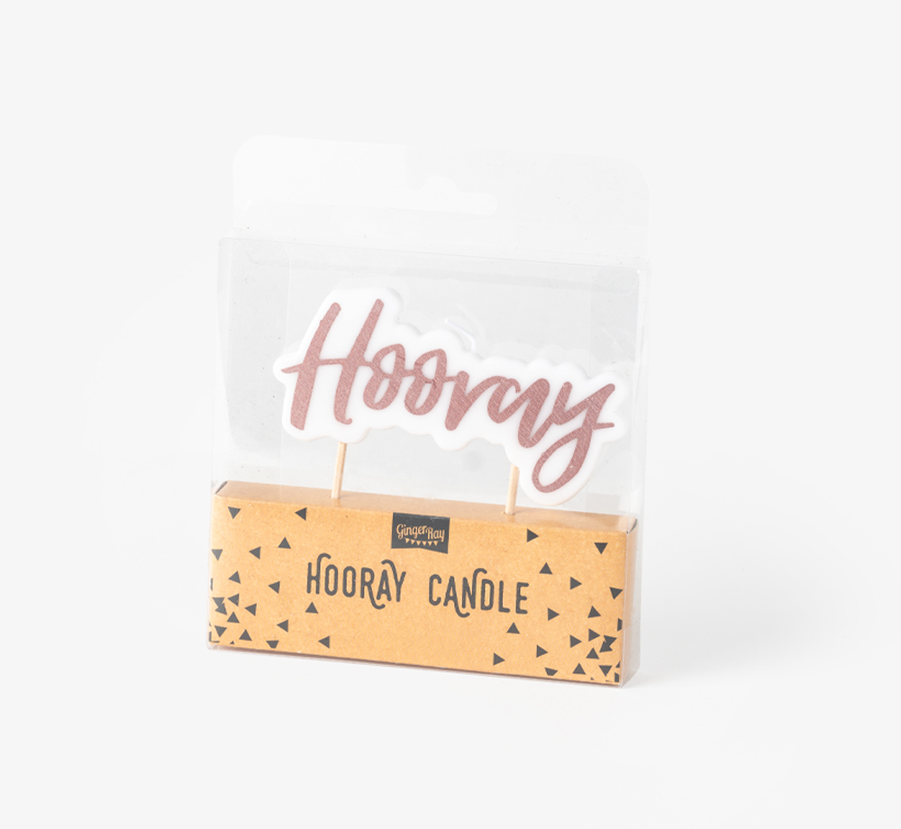 Rose Gold Hooray Candle by Ginger RayLifestyle & Games| Bookblock