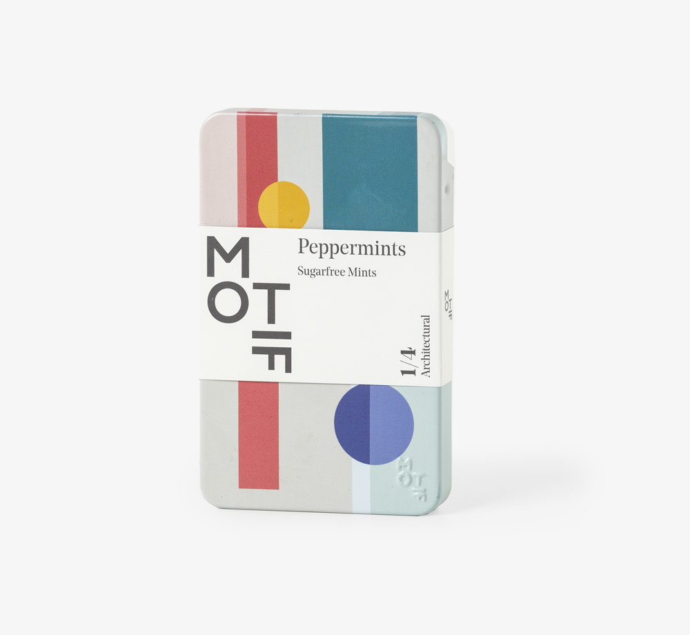 Architectural Grey Peppermints Tin by MotifEat & Drink| Bookblock