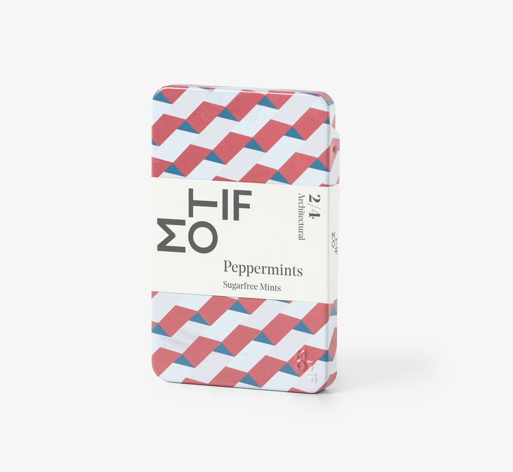 Architectural Red Peppermints Tin by MotifEat & Drink| Bookblock