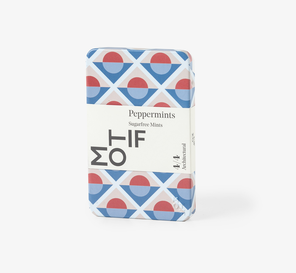 Architectural Blue Peppermints Tin by MotifEat & Drink  Bookblock