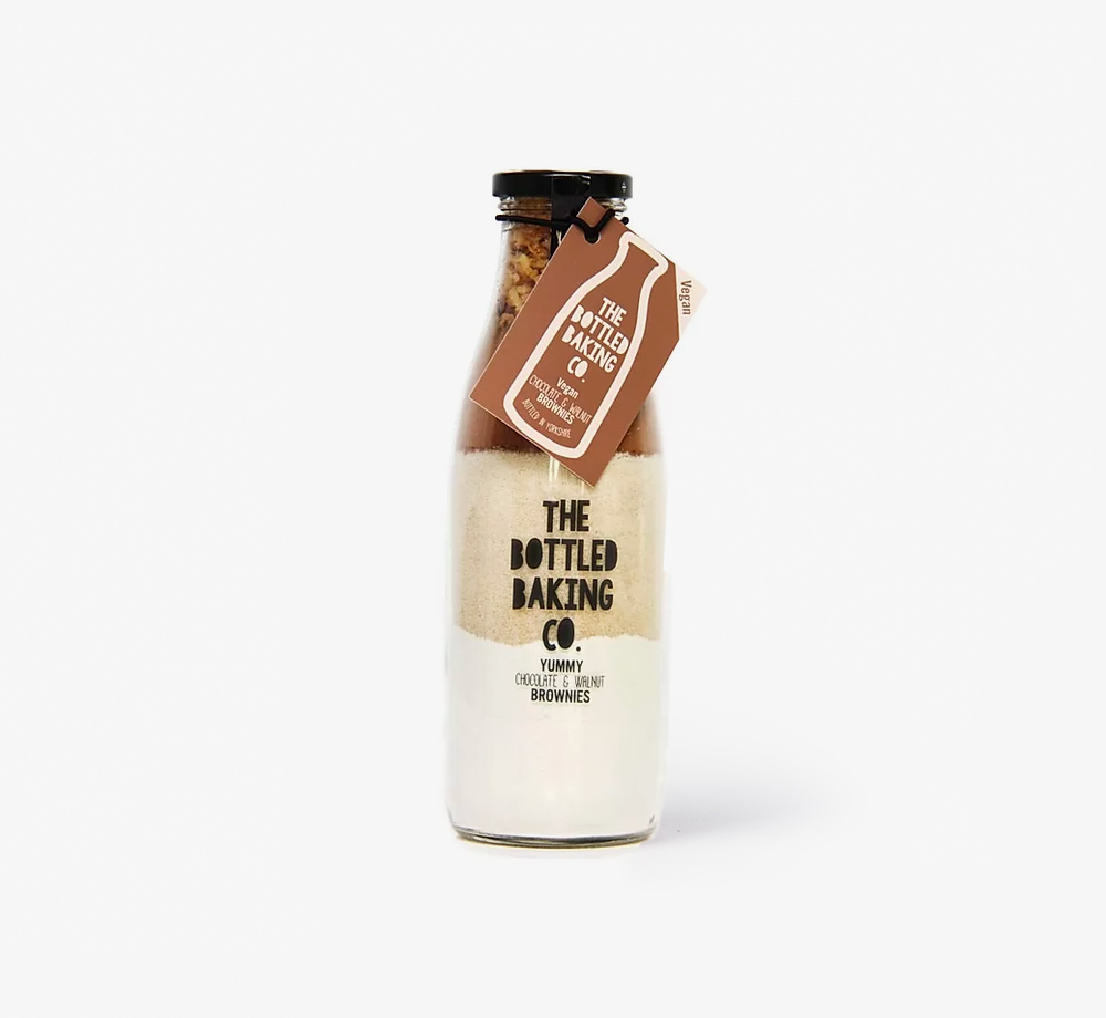 Vegan Chocolate & Walnut Brownie Mix by The Bottled Baking Co.Corporate Gifts| Bookblock