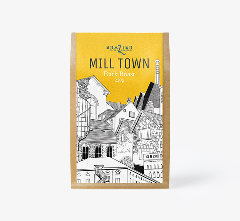 Mill Town Blend Ground Coffee 220g by BrazierEat & Drink| Bookblock