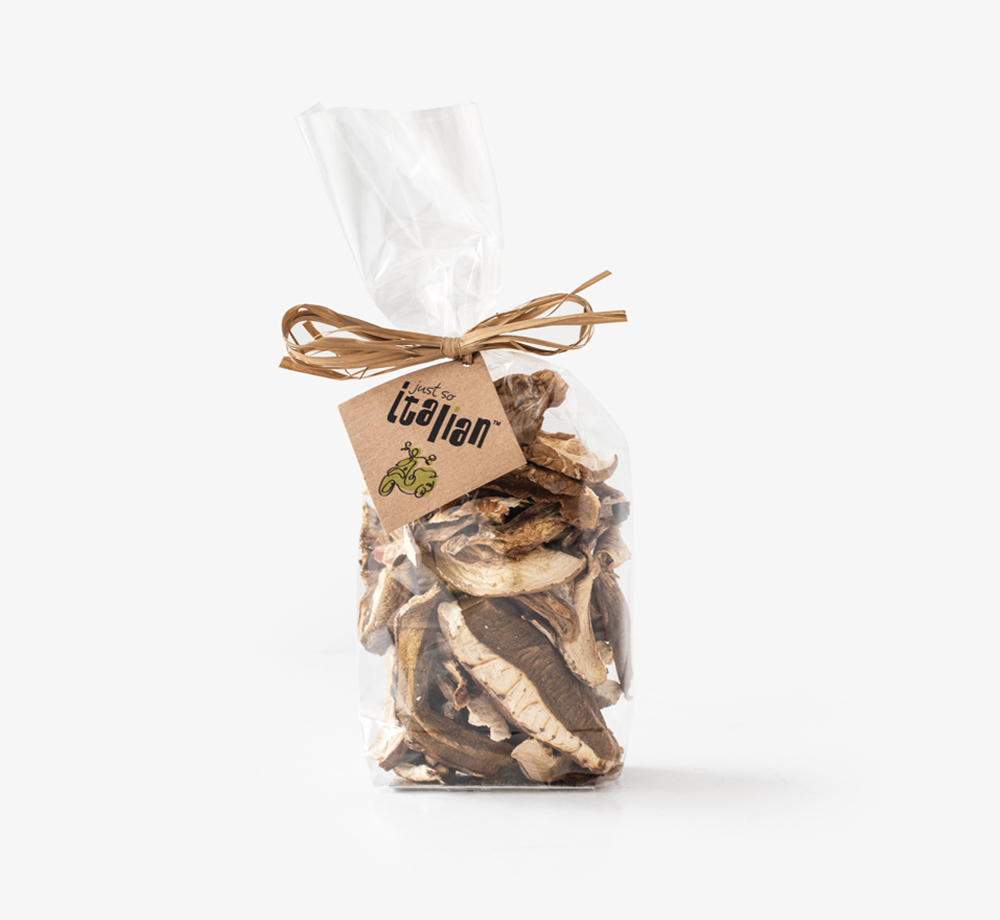 Dried Porcini Mushroom Gift Bag 50g by Just So ItalianCorporate Gifts| Bookblock