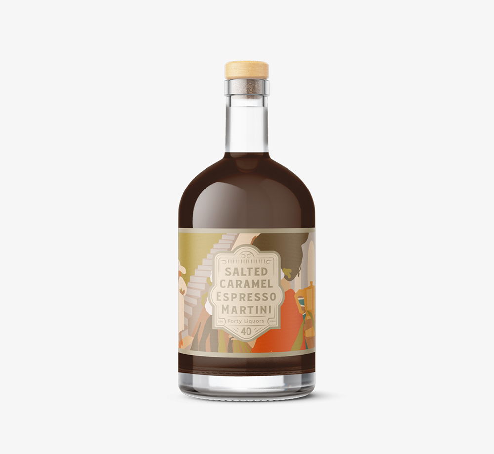Salted Caramel Espresso Martini 20cl by Forty LiquorsEat & Drink| Bookblock