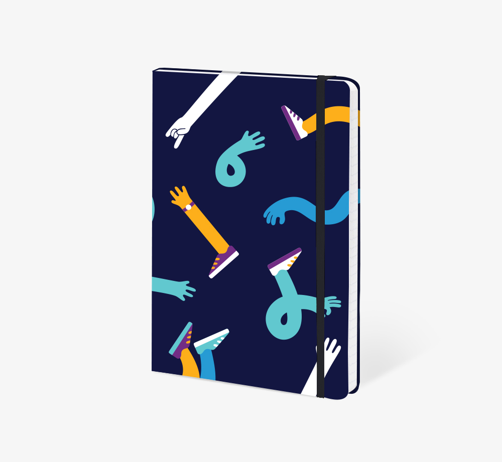 Hands And Feet A5 Notebook by The EditionsStationery| Bookblock