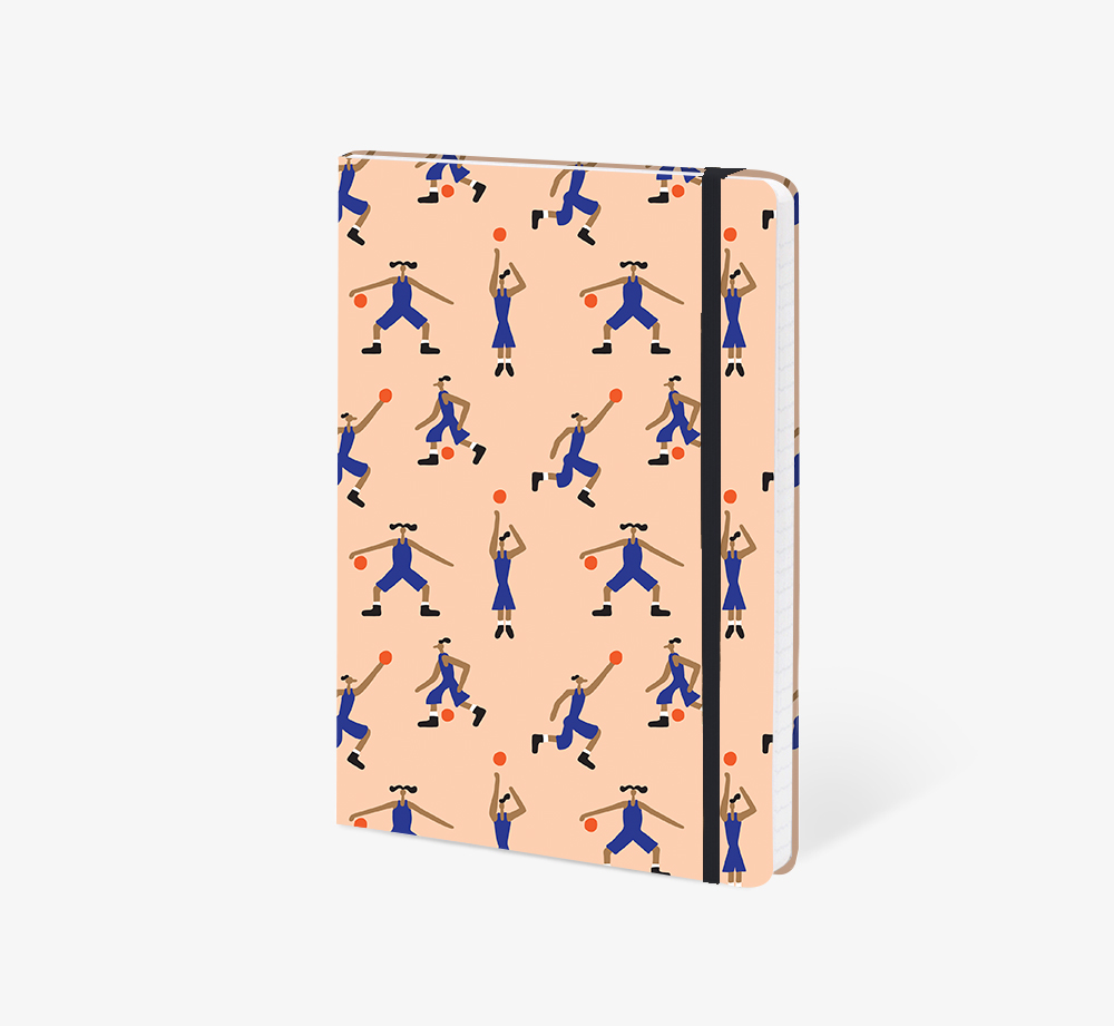 Basketball A5 Notebook by The EditionsStationery  Bookblock
