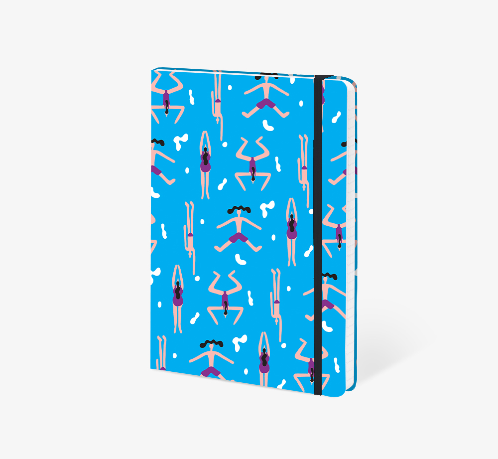 Swimming A5 Notebook by The EditionsStationery| Bookblock